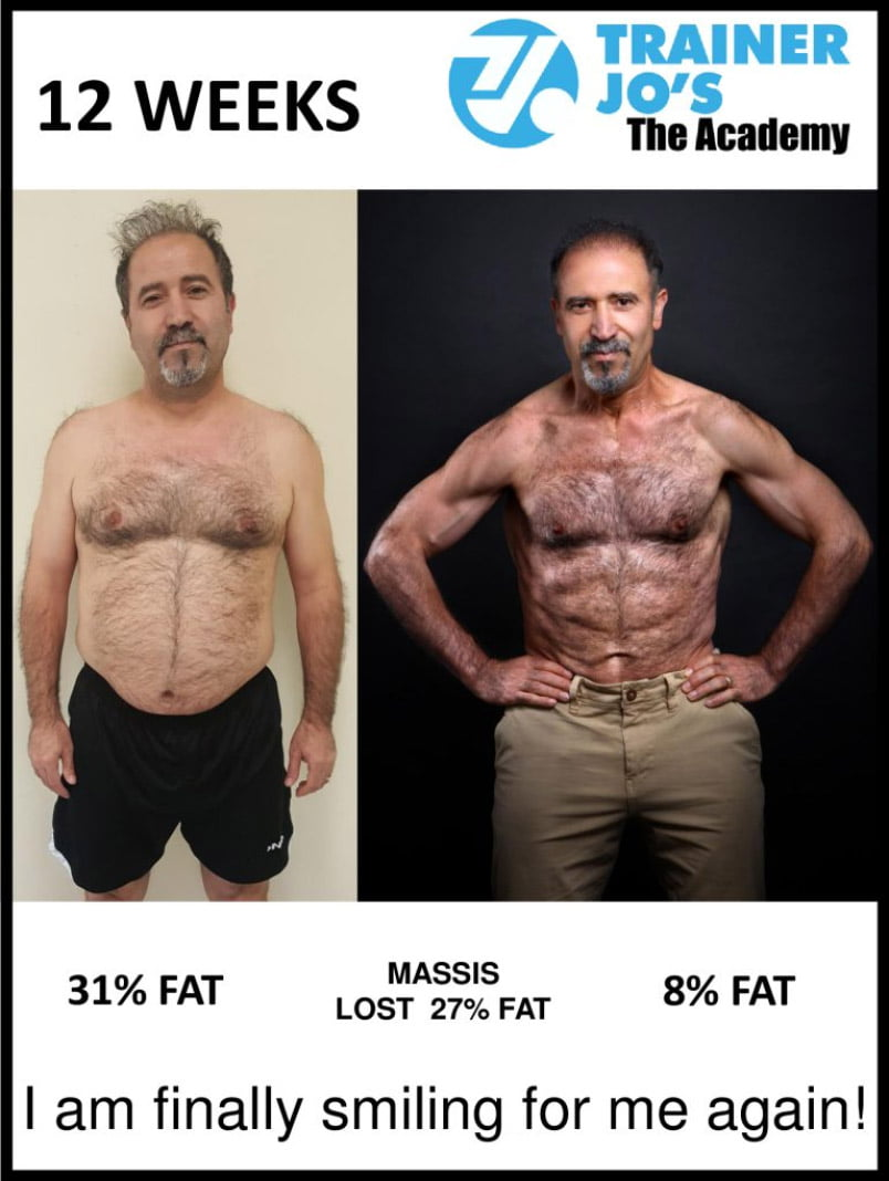 Massis expresses joy with his new physique