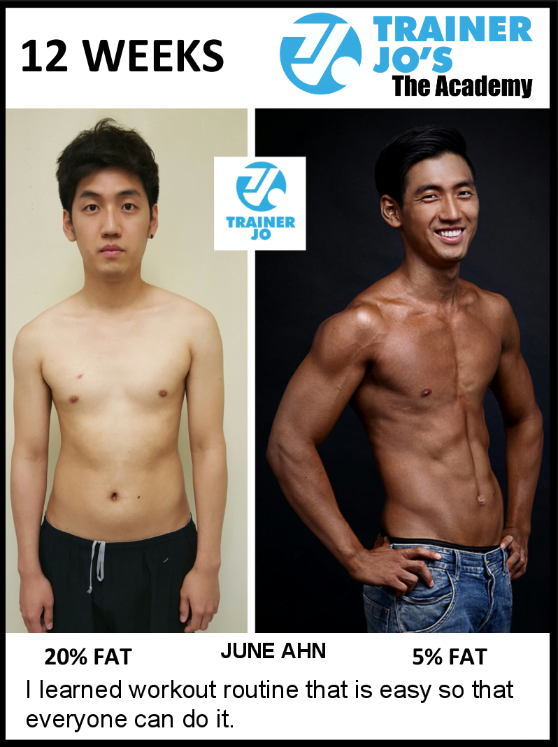 June gets down to an absurd 5 percent body fat