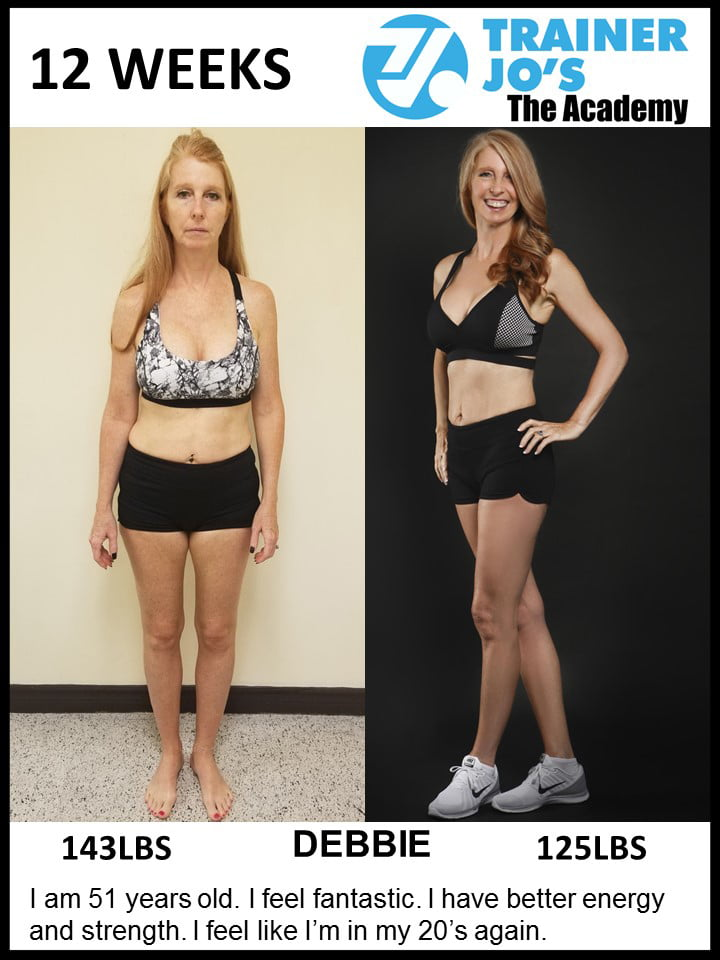 Debbie completely rejuvenated her lifestyle by this one on one fitness program