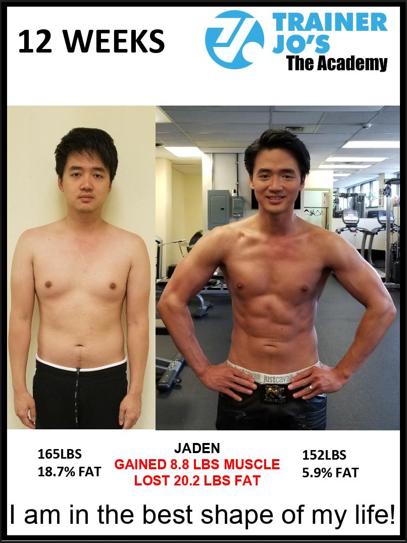 Jaden slims down to 6 percent body fat