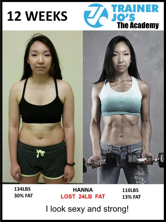 Hanna feels absolutely amazing after the fitness program Trainer Jo provided her