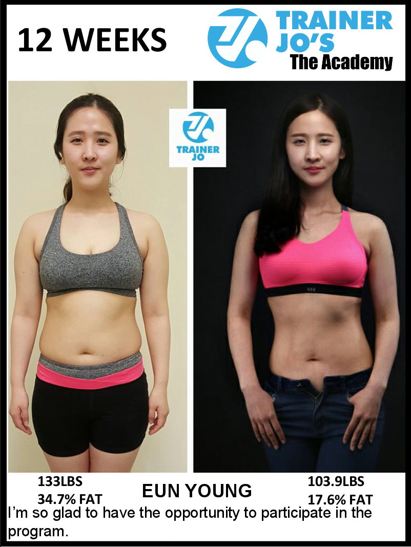 Eun feels great after completing the workout program
