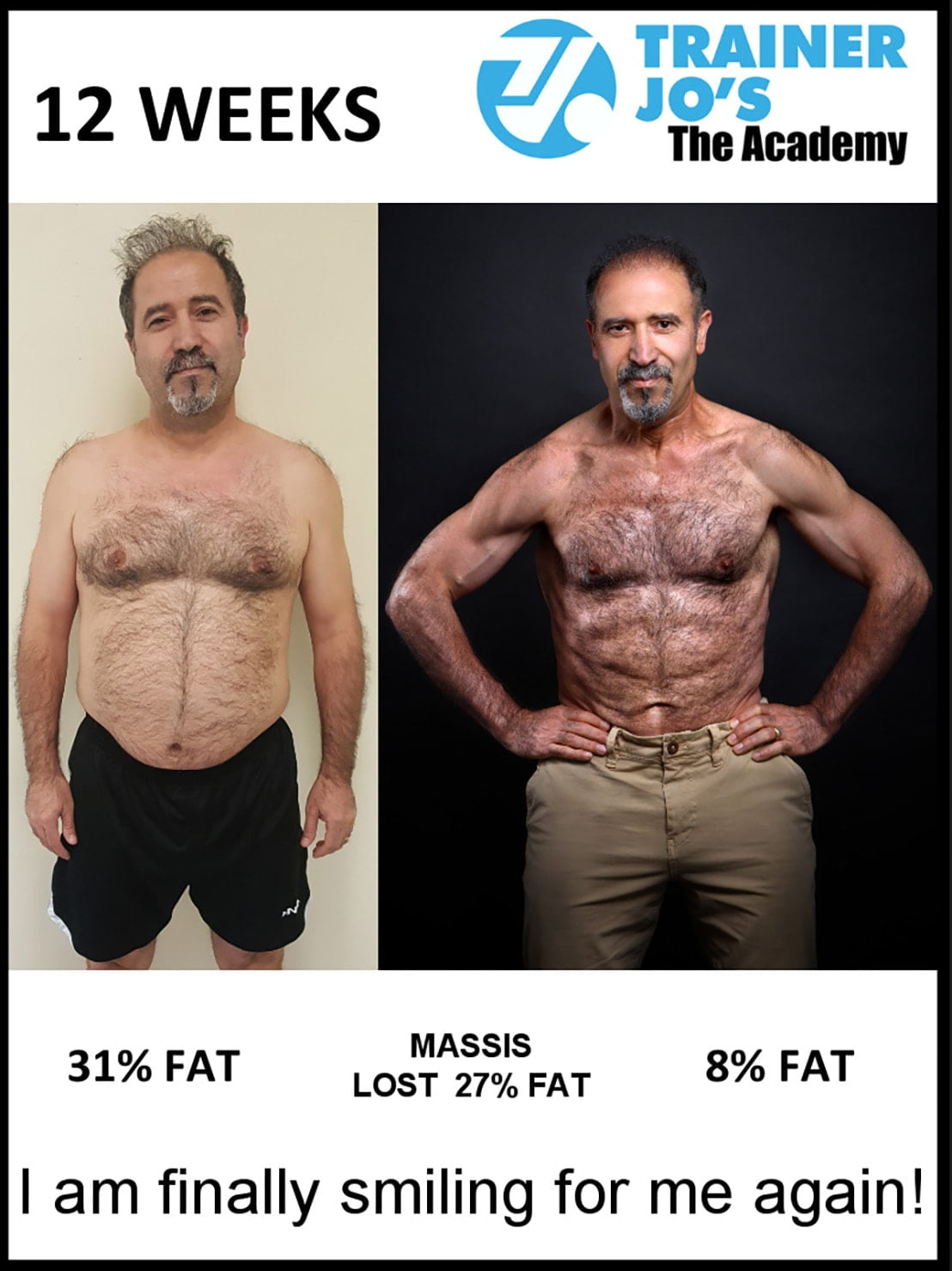 middle aged man before and after getting ripped insane transformation