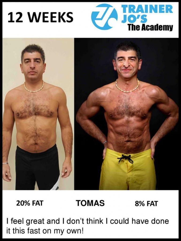 older gentleman feels great after cutting body fat percentage in half